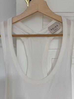 Reiss Top in seta bianco sporco
