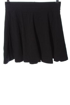 basics clockhouse Rozkloszowana spódnica czarny Melanżowy W stylu casual