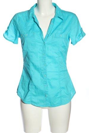 basics clockhouse Shirt met korte mouwen turkoois casual uitstraling