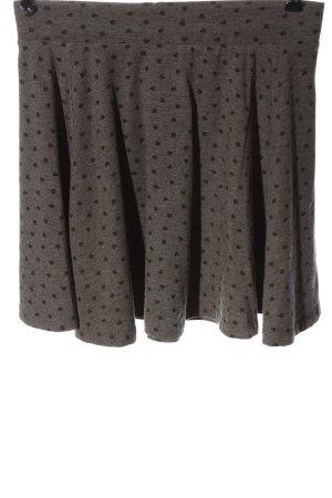 basics clockhouse Mini rok lichtgrijs-zwart volledige print casual uitstraling
