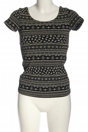 basics clockhouse Backless Top black-natural white allover print casual look