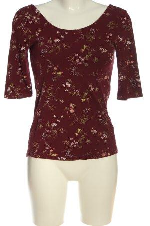 basics clockhouse Gebreid shirt rood-roze volledige print casual uitstraling