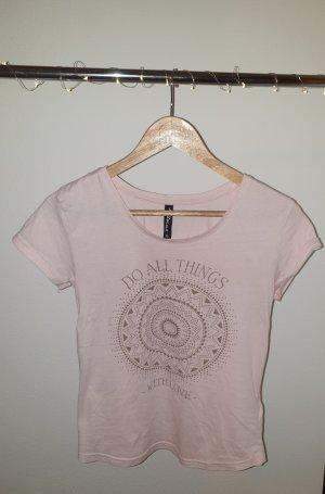 Basicshirt rose mit goldener Schrift/Aufdruck