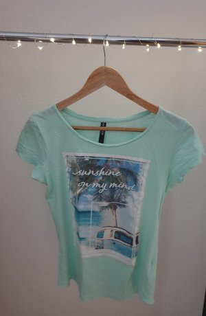 Basicshirt türkis mit Sommerprint Colours of the world