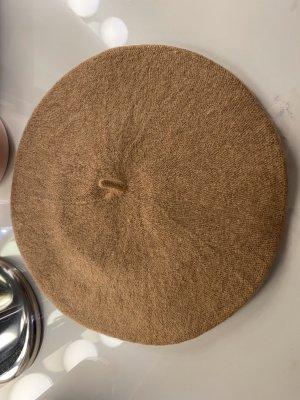 Basken Mütze Barett französisch aus Wolle beige