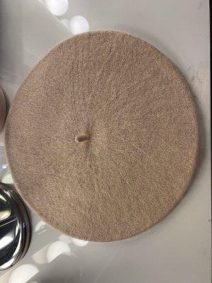 Basken Mütze Barett französisch aus Wolle helles beige