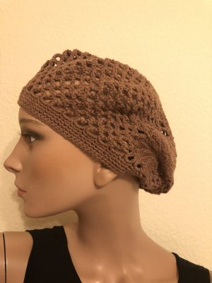 Esprit Beret light brown-brown cotton