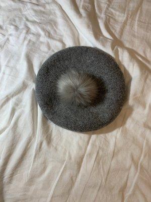 H&M Chapeau en feutre gris