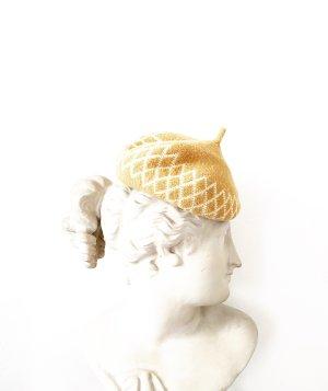 Vintage Béret beige-crème