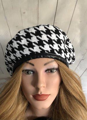 Baskenmütze schwarz-weiß