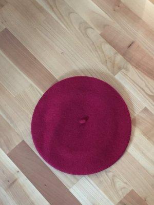 Baskenmütze, tiefes rot