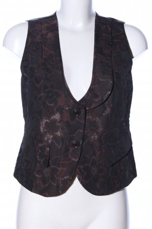 Basler Anzugweste braun-schwarz Blumenmuster Elegant