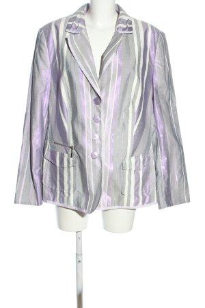 Basler Black Label Blazer corto grigio chiaro-bianco motivo a righe stile casual