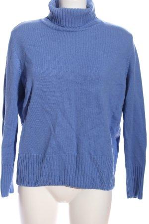 Basler Black Label Rollkragenpullover blau Casual-Look