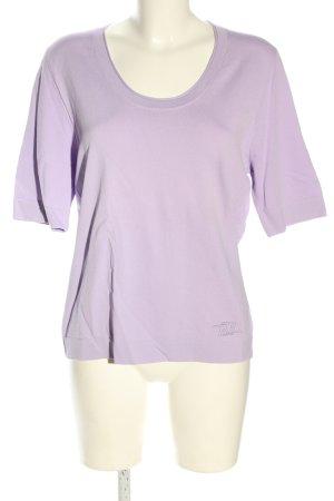 Basler Black Label T-shirts en mailles tricotées violet style décontracté