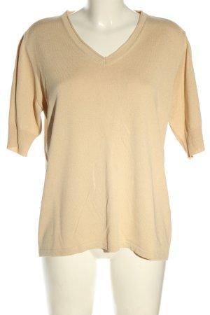 Basler Black Label V-hals shirt wolwit casual uitstraling