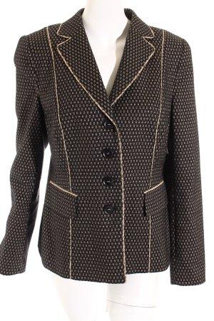 Basler Blazer schwarz-beige grafisches Muster Elegant