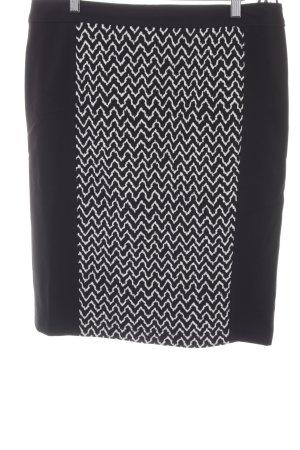 Basler Jupe crayon noir-blanc motif en zigzag style classique