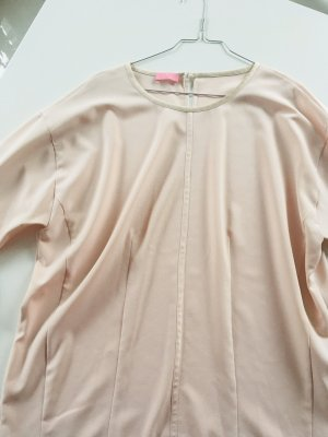 Basler Bluse in rosé, Kurzarm, fließend fallend