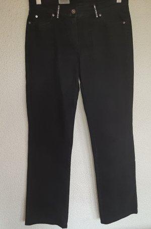Basler Bootcut Jeans 40 schwarz mit Strass