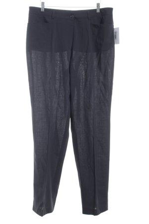 Basler Pantalon à pinces gris foncé style classique