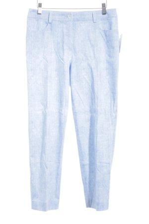 Basler Bundfaltenhose himmelblau-weiß Allover-Druck extravaganter Stil