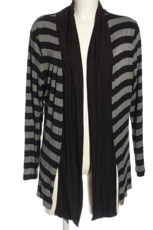 Basler Cardigan nero-grigio chiaro puntinato stile casual