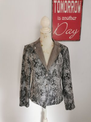 Basler Jersey blazer grijs-lichtgrijs