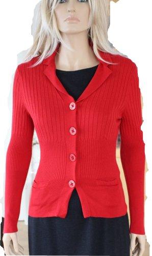 Basler Veste en tricot rouge tissu mixte