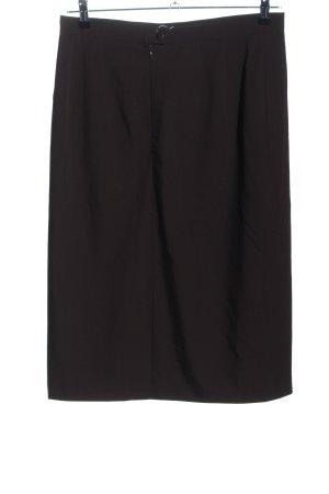 Basler Falda de talle alto negro estilo «business»