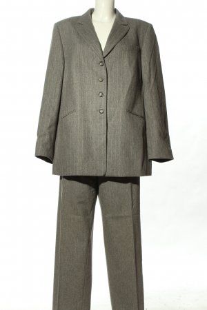 Basler Trouser Suit light grey-natural white flecked business style
