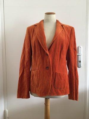 Basler Jackett Sakko rostfarben orange Samt Größe 40 neu