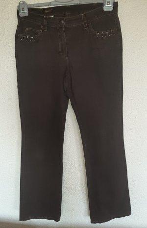 Basler Jeans 40 braun mit Strasssteinen