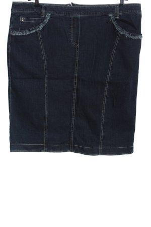 Basler Gonna di jeans blu stile casual