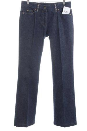 Basler Jeansschlaghose dunkelblau Hippie-Look