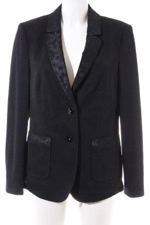 Basler Blazer en jersey noir motif abstrait style d'affaires