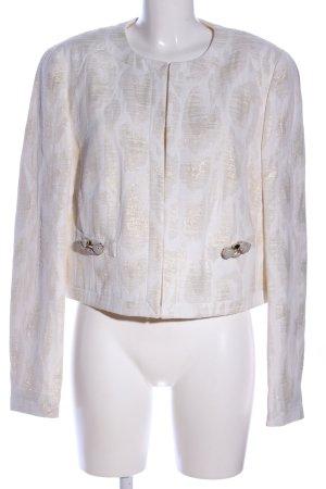 Basler Blazer en jersey blanc cassé-doré imprimé allover style extravagant
