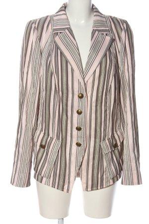 Basler Klassischer Blazer roze-bruin gestreept patroon casual uitstraling