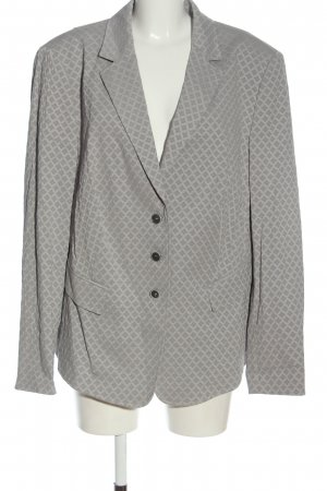 Basler Short Blazer light grey allover print business style