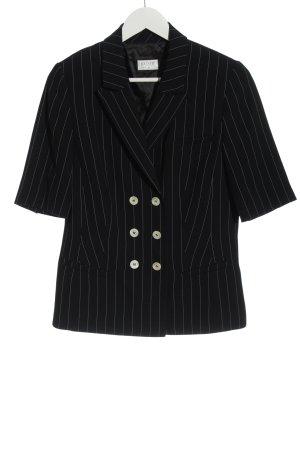 Basler Korte blazer zwart gestreept patroon casual uitstraling