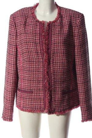 Basler Kurz-Blazer pink-weiß Casual-Look