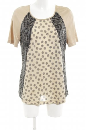 Basler Kurzarm-Bluse grafisches Muster Casual-Look