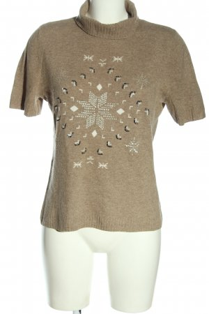 Basler Short Sleeve Sweater brown graphic pattern casual look