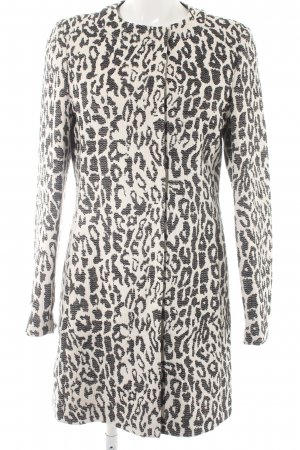 Basler Short Coat white-black leopard pattern animal print