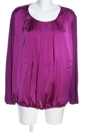 Basler Blouse à manches longues rose-violet style décontracté