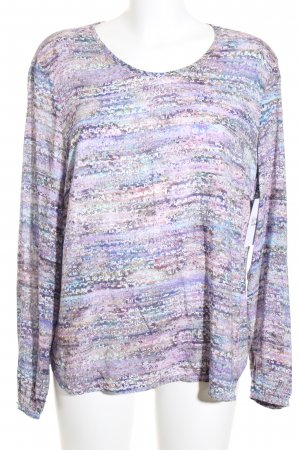 Basler Langarm-Bluse helllila-hellgrün abstraktes Muster Casual-Look