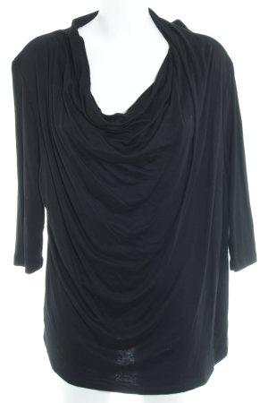 Basler Langarm-Bluse schwarz klassischer Stil