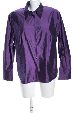 Basler Chemise à manches longues violet élégant