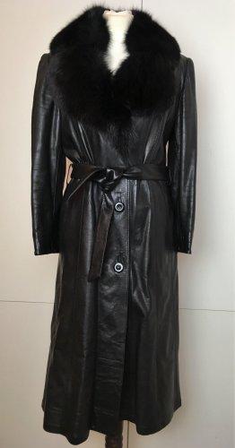 Basler Abrigo de cuero negro Cuero