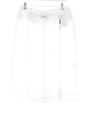 Basler Jupe en lin blanc style décontracté